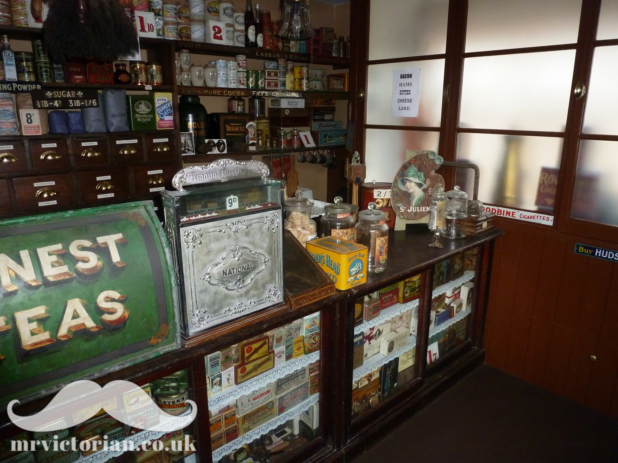 1920s grocery shop in Victorian house tour . Visit www.mrvictorian.co.uk