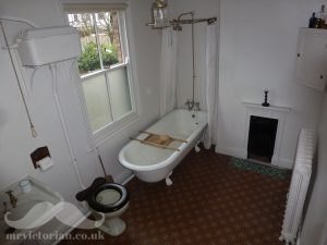 Edwardian bathroom with original fittings Victorian house tour. Visit www.mrvictorian.co.uk