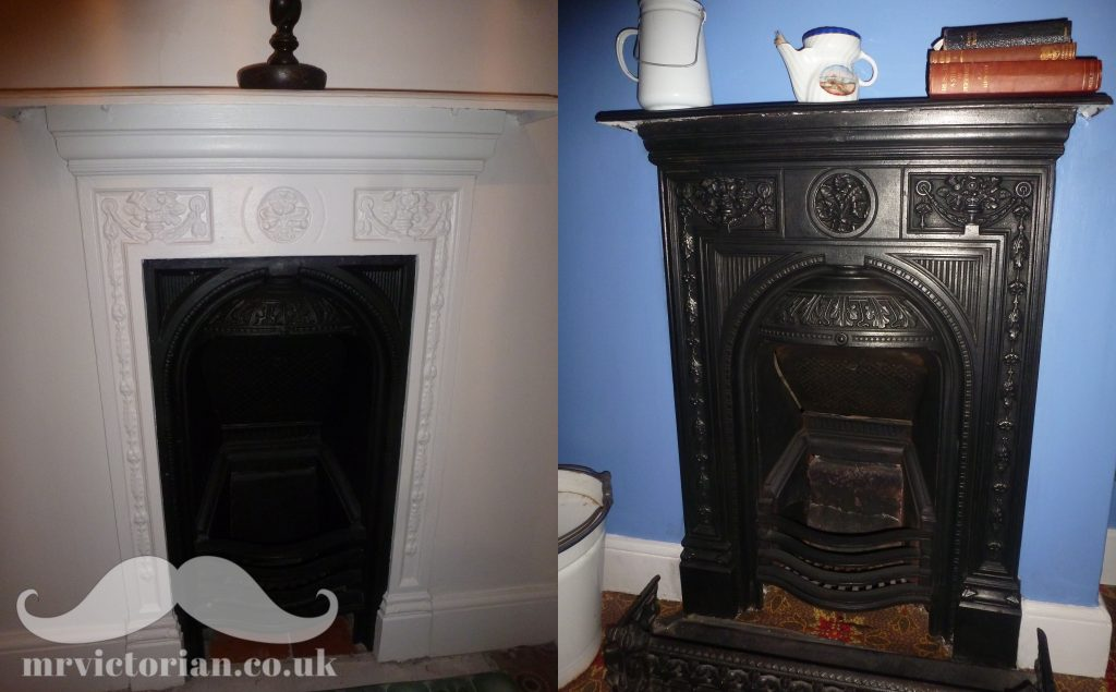 Restoring An Iron Fireplace To Strip, How To Clean Paint Off Cast Iron Fireplace