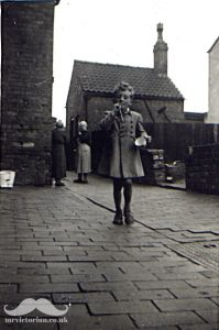 Back yard garden Miss Pedley 1950s Mr Victorian restoration