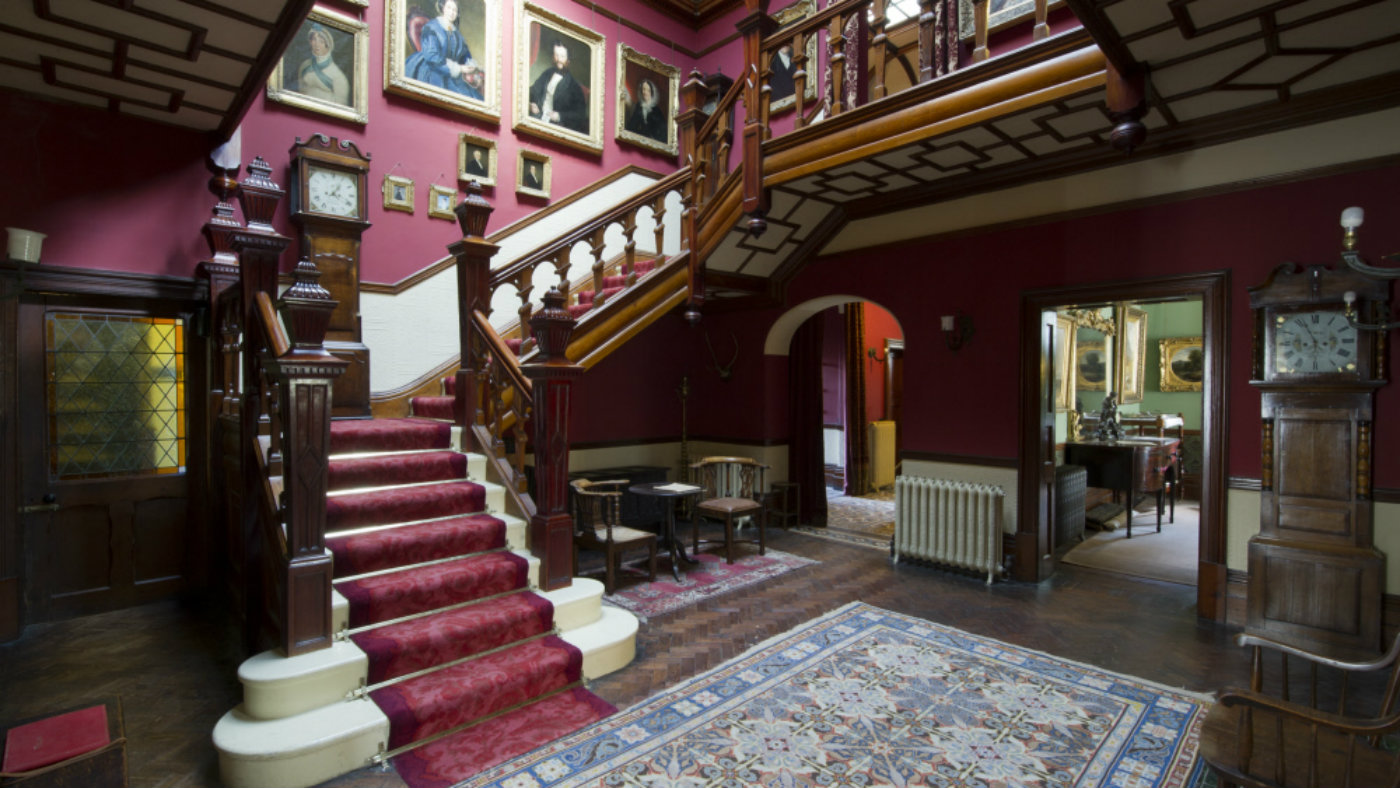 Top ten Victorian interiors Sunnycroft National Trust hallway stairs