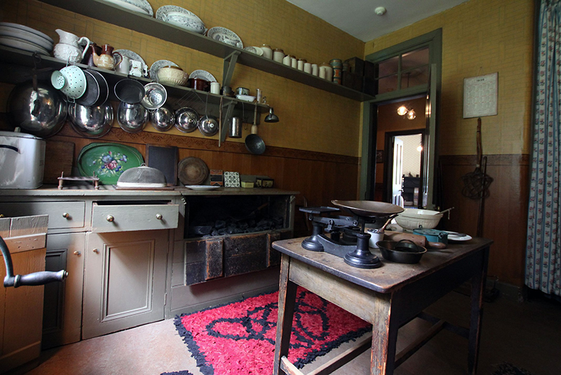 Top ten Victorian interiors Tenement House Glasgow kitchen National Trust for Scotland