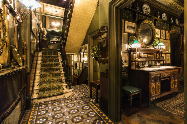 Top ten Victorian interiors Linley Sambourne House Kensington halllway Aesthetic Movement stairs