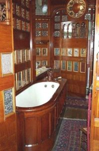 Victorian bathroom wood panelling
