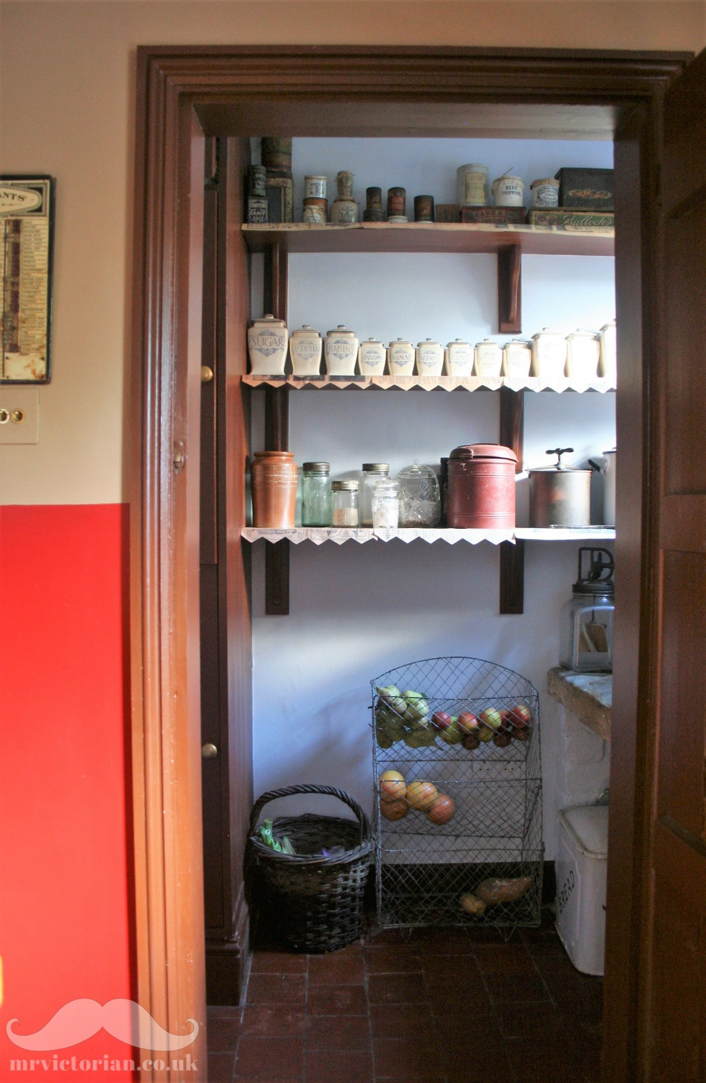 Victorian pantry shelves kitchenalia