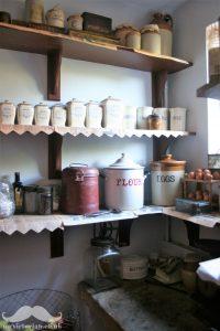 Victorian pantry vintage larder shelves