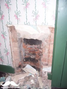 Victorian bedroom fireplace opening reinstating a