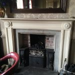 A Georgian hobgrate antique fireplace reinstating a Victroian