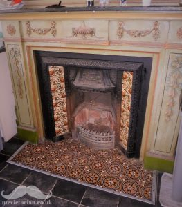 Victorian fireplace tile hearths