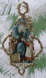 Christmas scrap tinsel ornament German