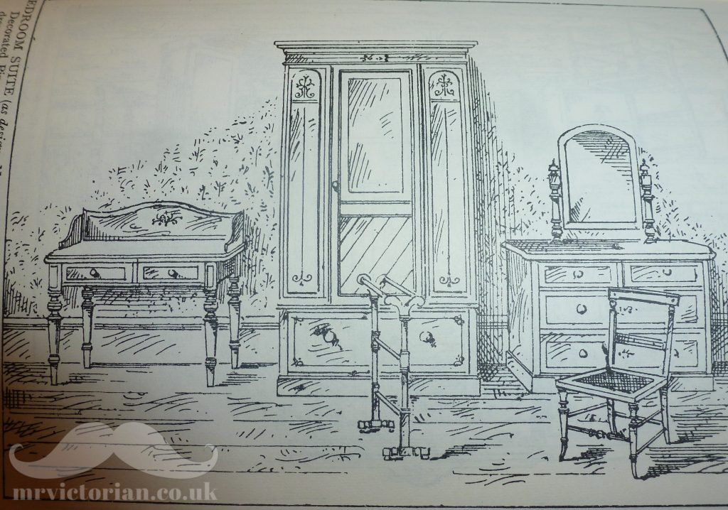 1895 Harrod's catalogue wood grained scumbled bedroom furniture