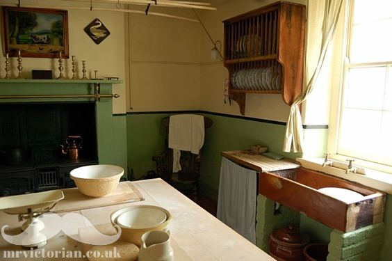 Victorian kitchen sink range scullery plate rack