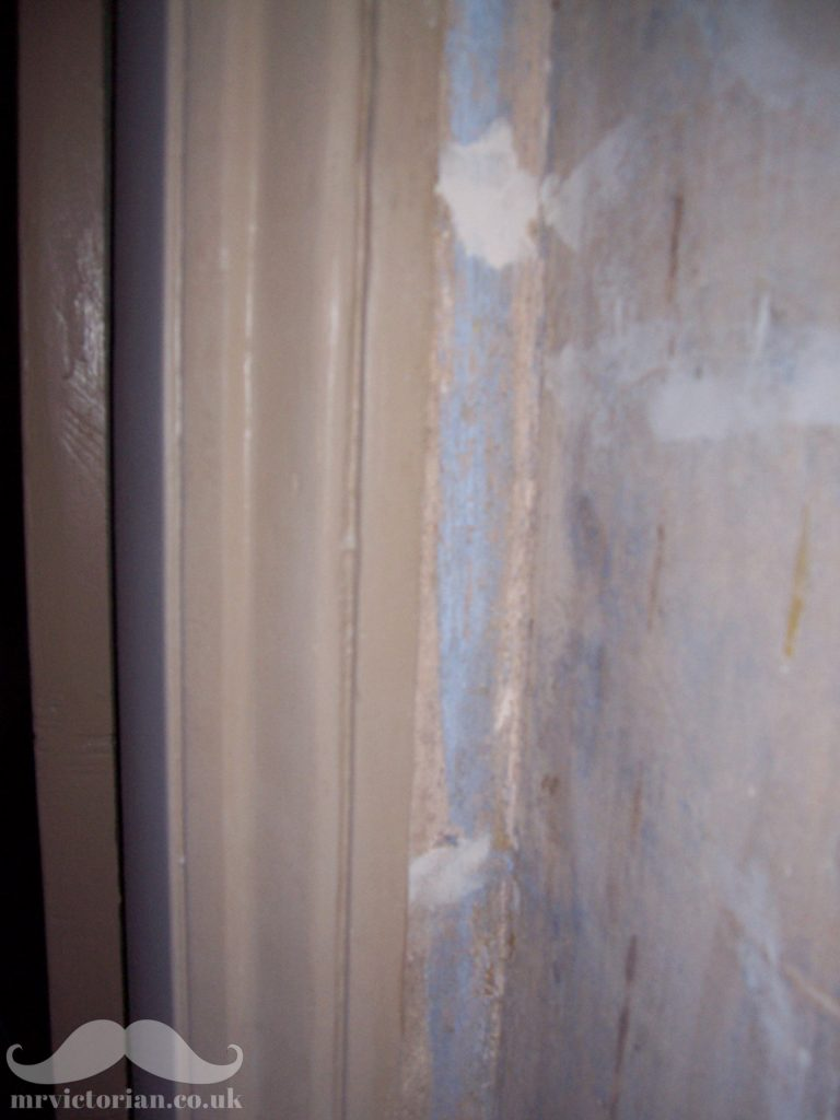 Victorian blue distemper paint walls
