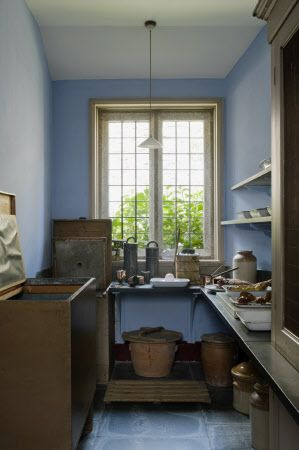 Victorian blue distemper pantry larder Lanhydrock National Trust