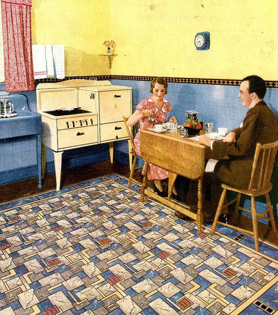 1930s rug congoleum