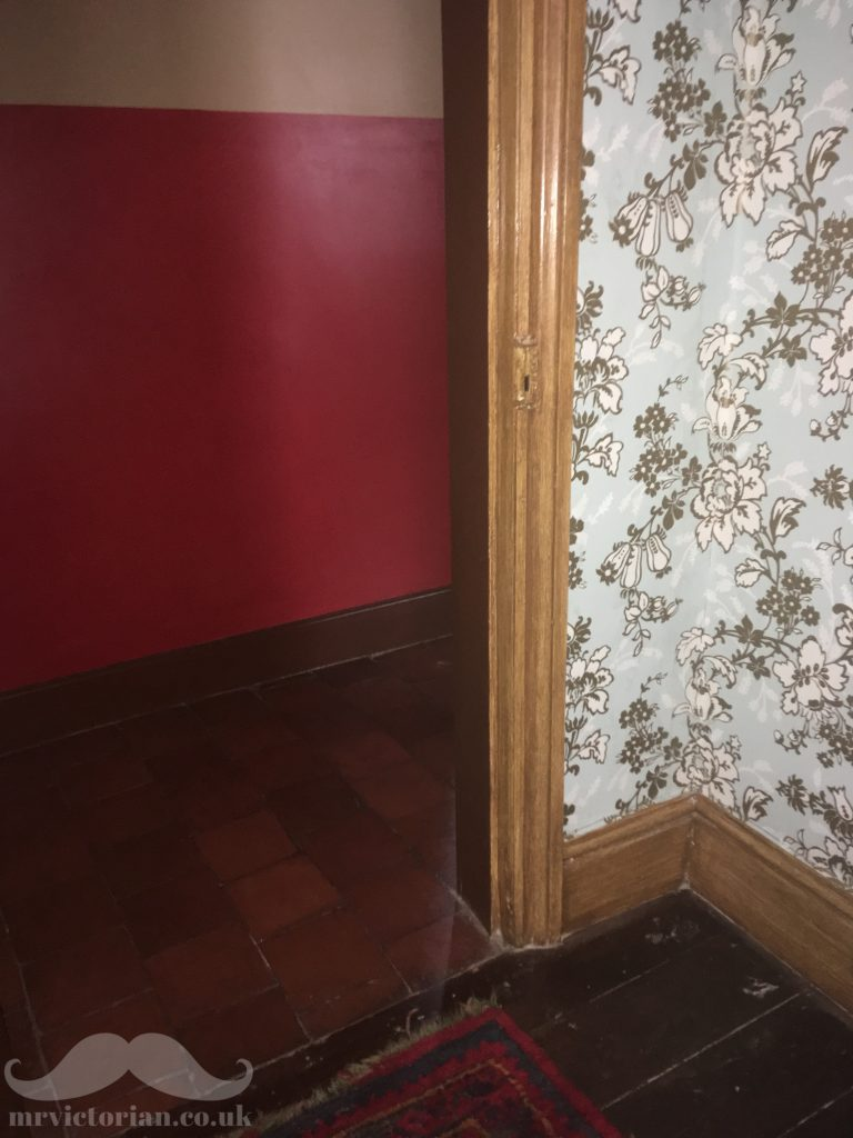 Victorian design hierarchy door wallpaper quarry tiles woodgrained oak