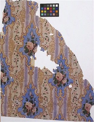 1860s floral gothic wallpaper
