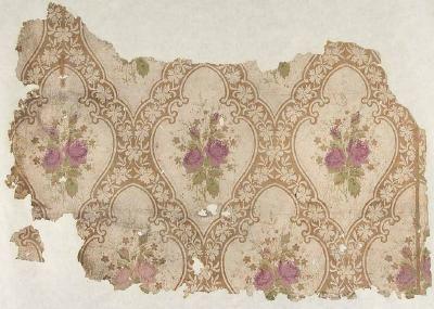 1860s floral motif wallpaer